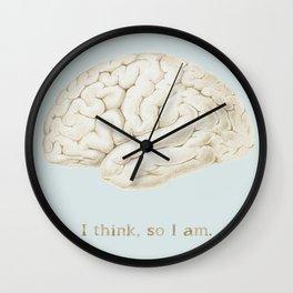 I think, so I am. Wall Clock