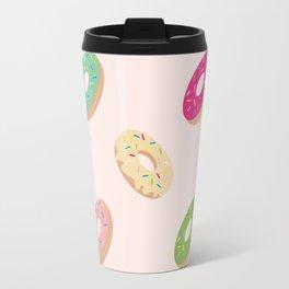 Donuts Pattern   Pastel Pink Travel Mug