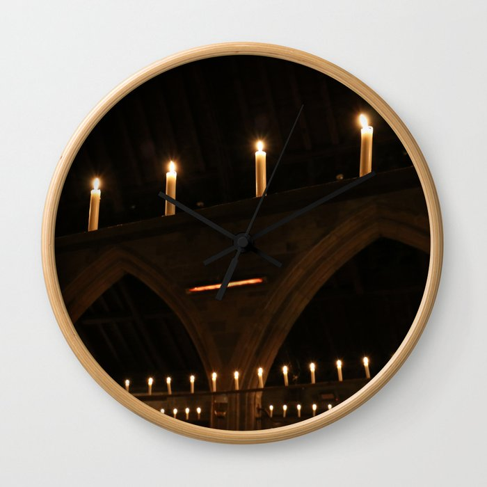 Christmas Candle Magic Wall Clock