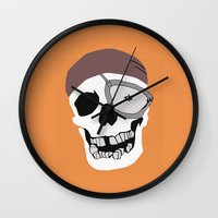 the goonies Wall Clocks featuring Goonies by B. Hopt