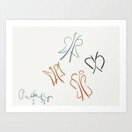 Butterflies. Art Print
