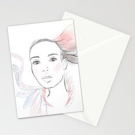 Blue and Red Stationery Cards