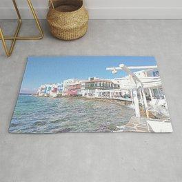 Mykonos Little Venice - Greece Rug