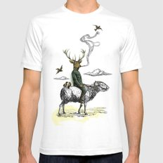 Cavalry Mens Fitted Tee SMALL White