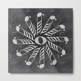 Music mandala 3 on chalkboard Metal Print