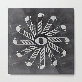 Music mandala 3 on chalkboard Metal Print