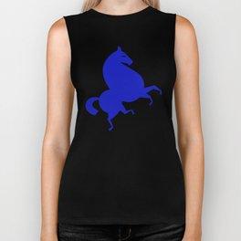 blue horse Biker Tank