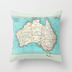 Australia; re-imagined Throw Pillow