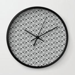 Braaains (black on grey) Wall Clock