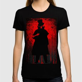 Jack the Ripper Blood Background T-shirt