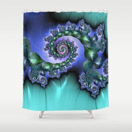 HILL LAND Shower Curtain