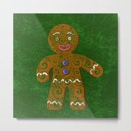 Swirly Christmas Cookie Metal Print