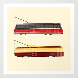Streetcars Art Print