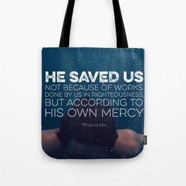 Titus 3:5 Tote Bag