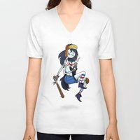 tank girl V-neck T-shirts featuring Marceline Tank Girl by Rewfoe