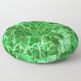 Emerald Green Marble Floor Pillow