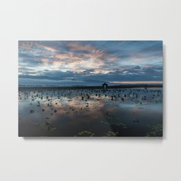 Inle Lake Sunrise Metal Print