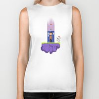 fez Biker Tanks featuring Dr. Who's Fez by IF ONLY