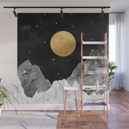 Moon and Stars Wall Mural