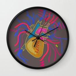 Love Pop Heart Wall Clock