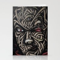 faces Stationery Cards featuring Faces by Suave-O