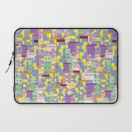 Building Pixel Blocks Laptop Sleeve