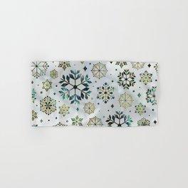 Festive Golden Abalone Shell Snowflake pattern Hand & Bath Towel