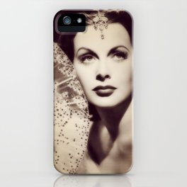 Hedy Lamarr, Hollywood Legend iPhone Case