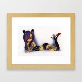 Dragon, Tiger Framed Art Print