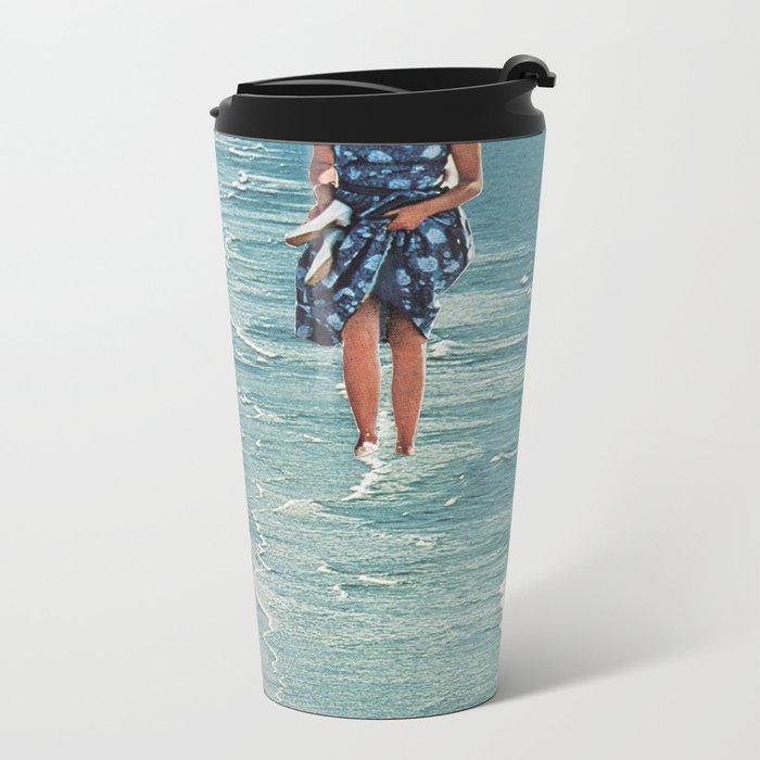 Walk on the Beach Metal Travel Mug