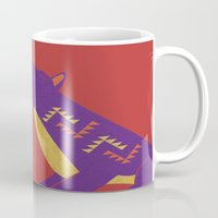 coyote Mugs featuring Coyote by Claire Lordon