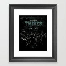 Night of the Twerks Framed Art Print