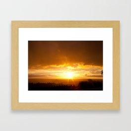Sunset in Spring  Framed Art Print