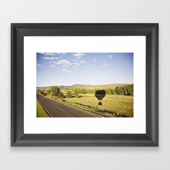 away we go::denver Framed Art Print