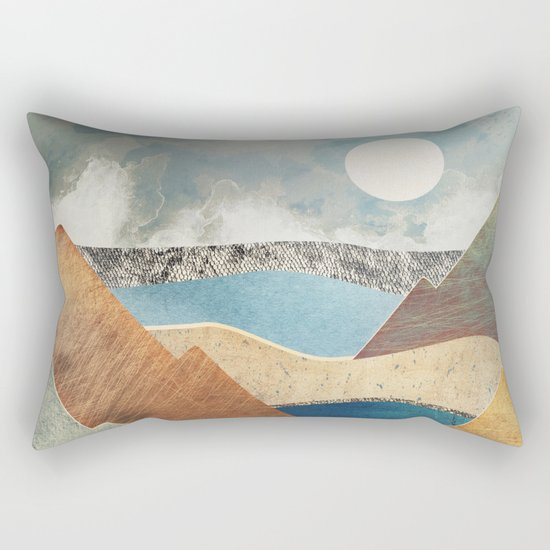 Mountain Pass Rectangular Pillow