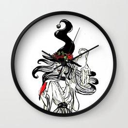 Cardinal Witch Wall Clock