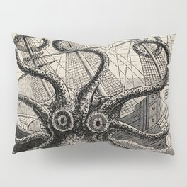 """The octopus; or, The """"Devil-fish"""" - Henry Lee - 1875 Giant Octopus Sinking Ship Pillow Sham"""