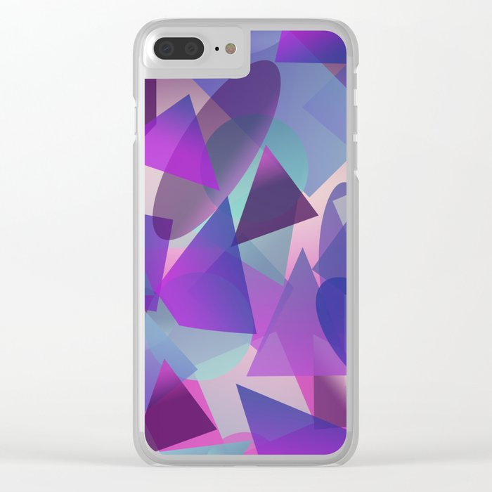 Abstract cube II Clear iPhone Case