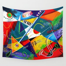 Performing Arts - Energy of Music Wall Tapestry