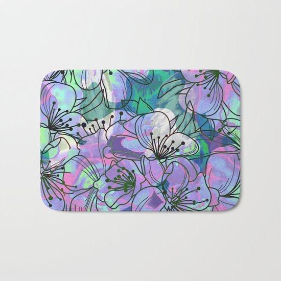 Little Purple Flowers Bath Mat