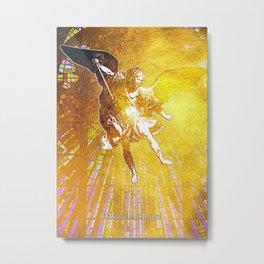 Michael Archangel Gold Metal Print