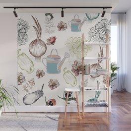 Cozy kitchen garden Wall Mural