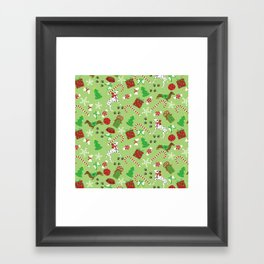 Christmas Pups Framed Art Print