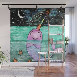 Narwhal Wish Wall Mural