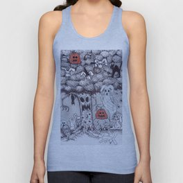 Spooky Hare Hollow Unisex Tank Top