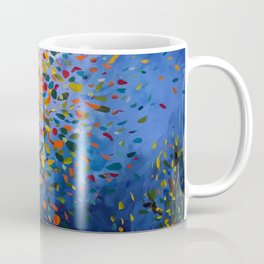 Fall Trees with Leaves Blowing in the Wind by annmariescreations Coffee Mug
