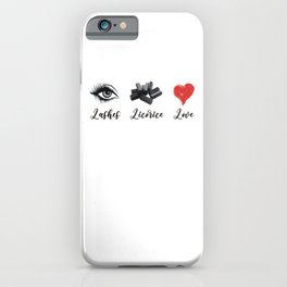 Licorice iPhone Case