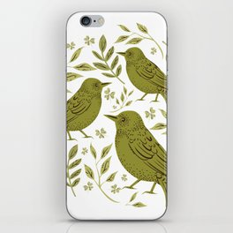 Little Wrens Hiding In The Hedgerow iPhone Skin