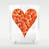 pizza Shower Curtains featuring PIZZA by Good Sense