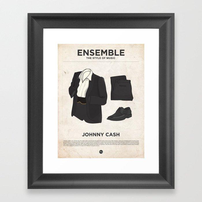Ensemble - Johnny Cash Framed Art Print by moxycreativehouse | Society6